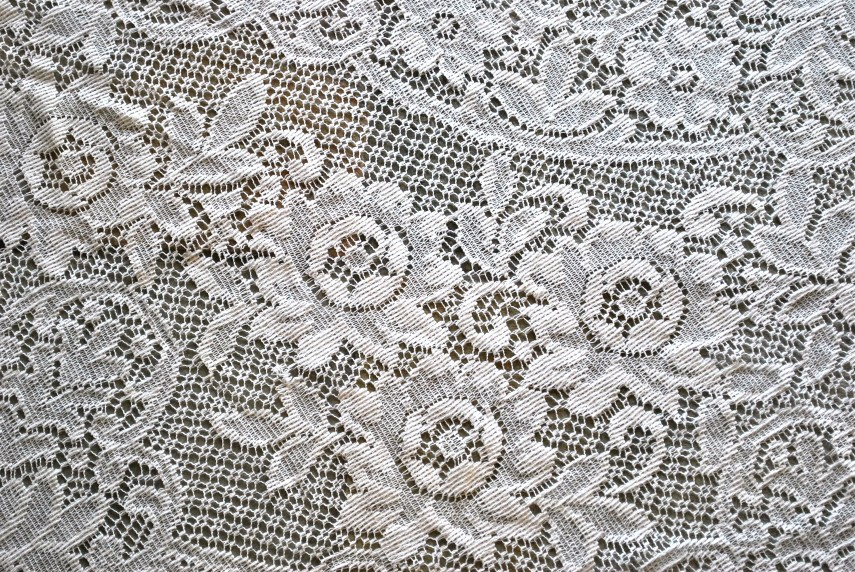 Lace Round Tablecloth | Lace Tablecloths | Brown Lace Tablecloth