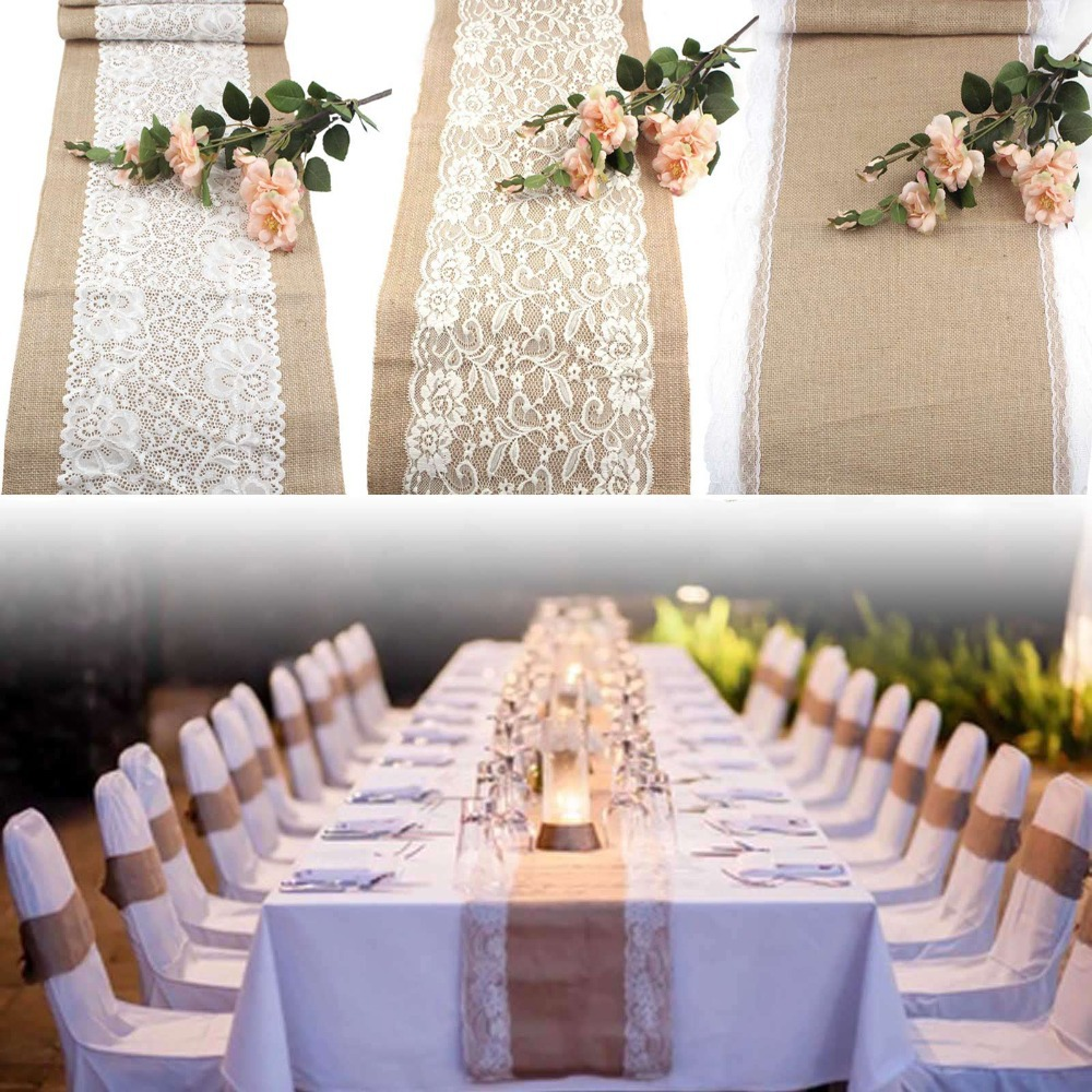 Lace Table Runners | Bulk Lace Table Runners | Peach Table Runner