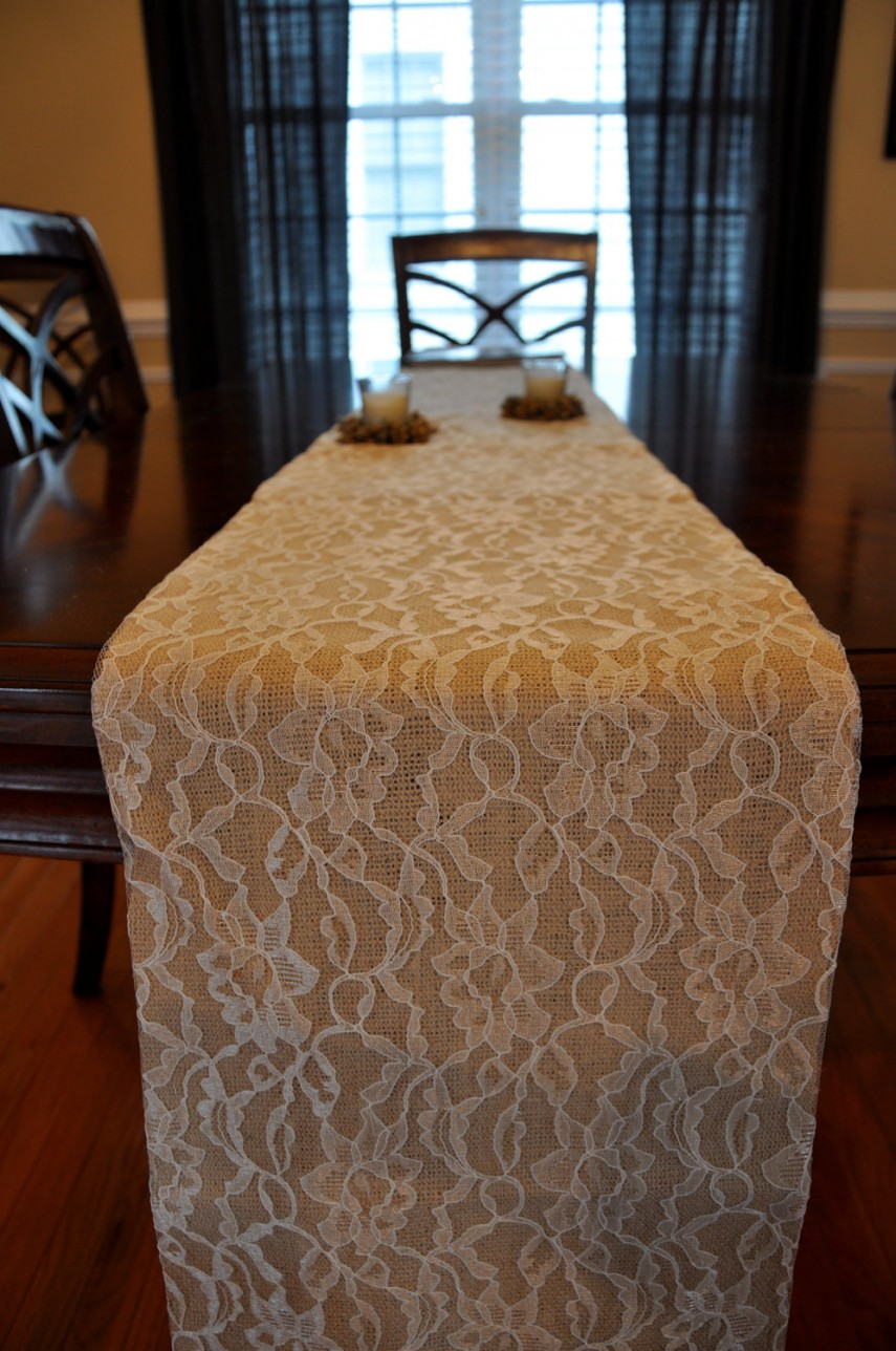 Lace Table Runners | Burlap Table Runner With Lace | Bed Bath And Beyond Table Runners