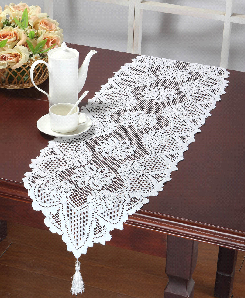Lace Table Runners | Cheap Lace Table Runners Wedding | Silver Table Runner