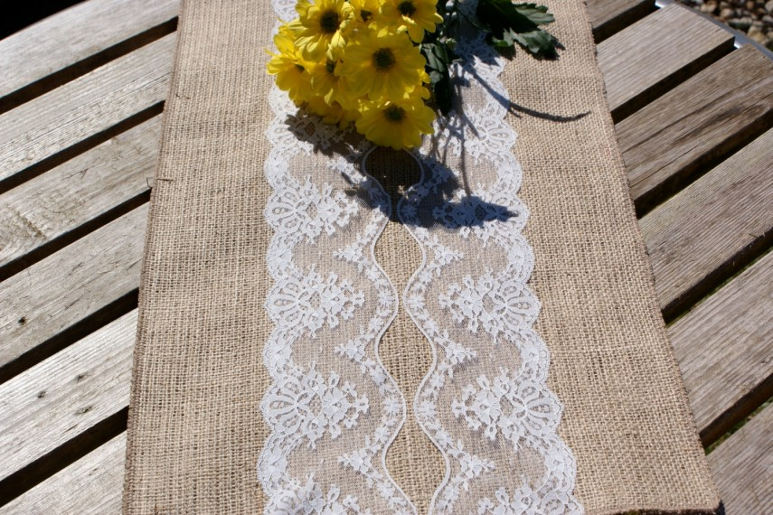 Lace Table Runners | Grey Table Runner | Vintage Lace Table Runners