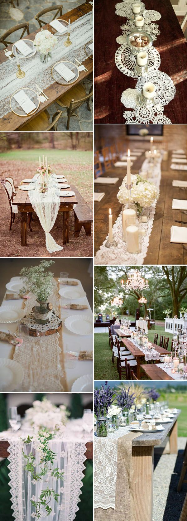 Lace Table Runners | Lace Burlap Table Runner | Table Runners For Weddings
