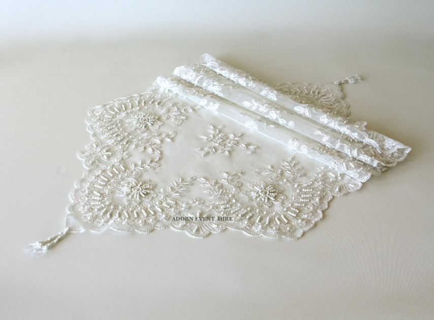 Lace Table Runners | Sequin Table Runner Wholesale | Table Runners For Weddings