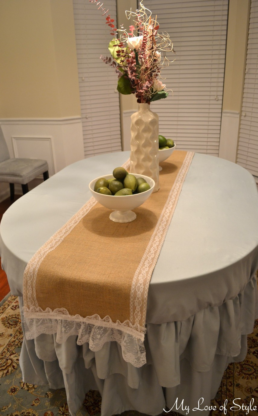 Lace Table Runners | Short Table Runner | Gold Sequin Runner