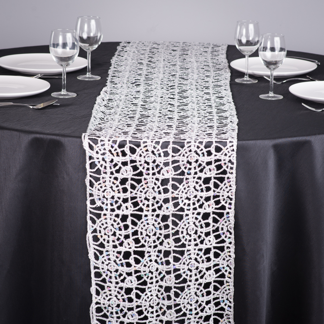 Lace Table Runners | Snowflake Table Runner | Burlap Runners Wedding