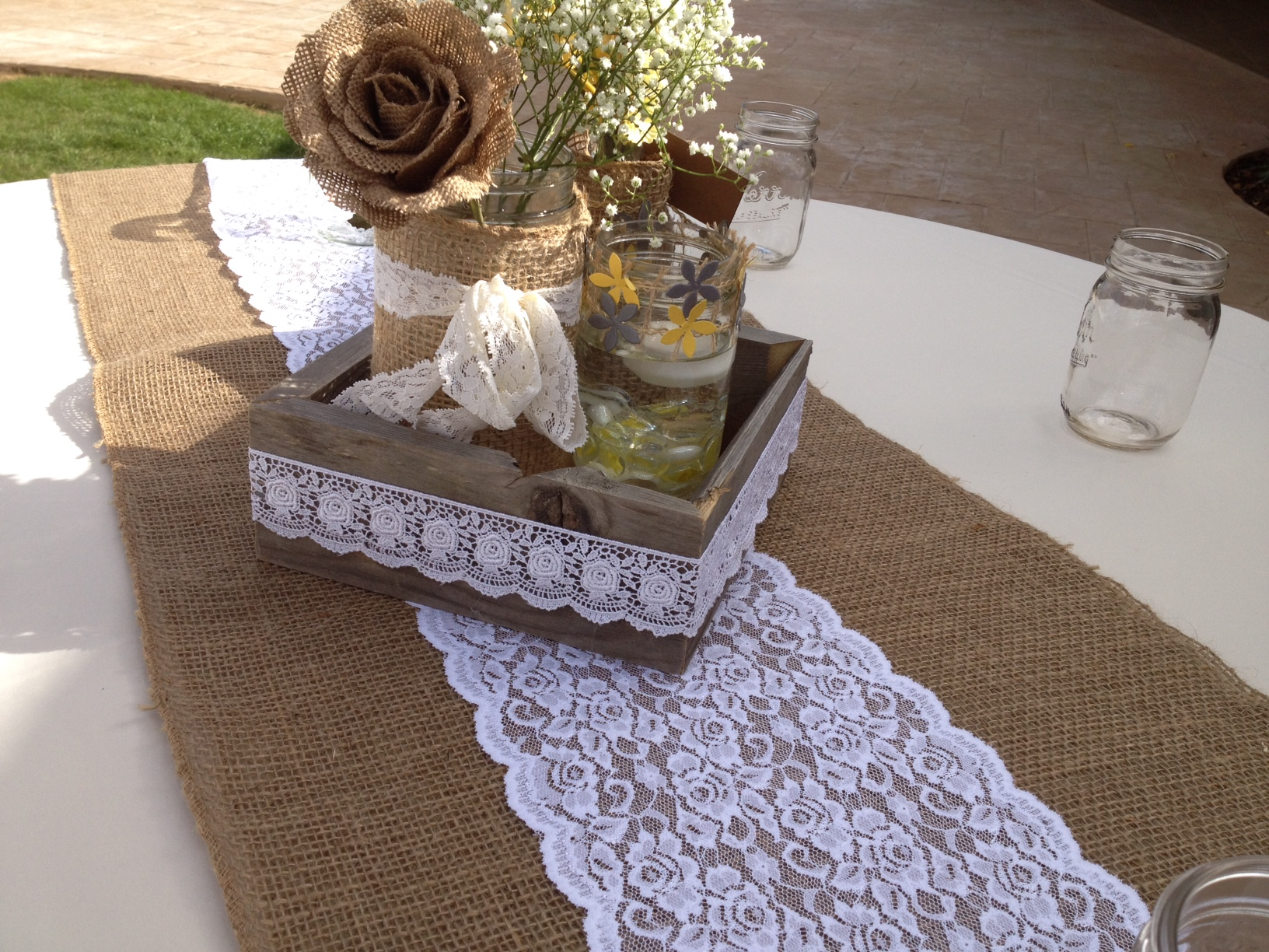 Lace Table Runners Wholesale | Lace Table Runners | Burlap Table Runners with Lace