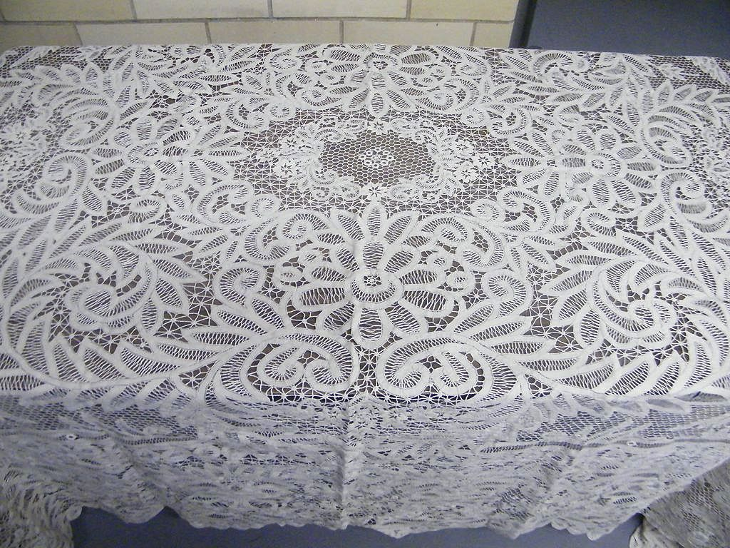 Lace Tablecloths Vintage | Irish Lace Tablecloth | Lace Tablecloths
