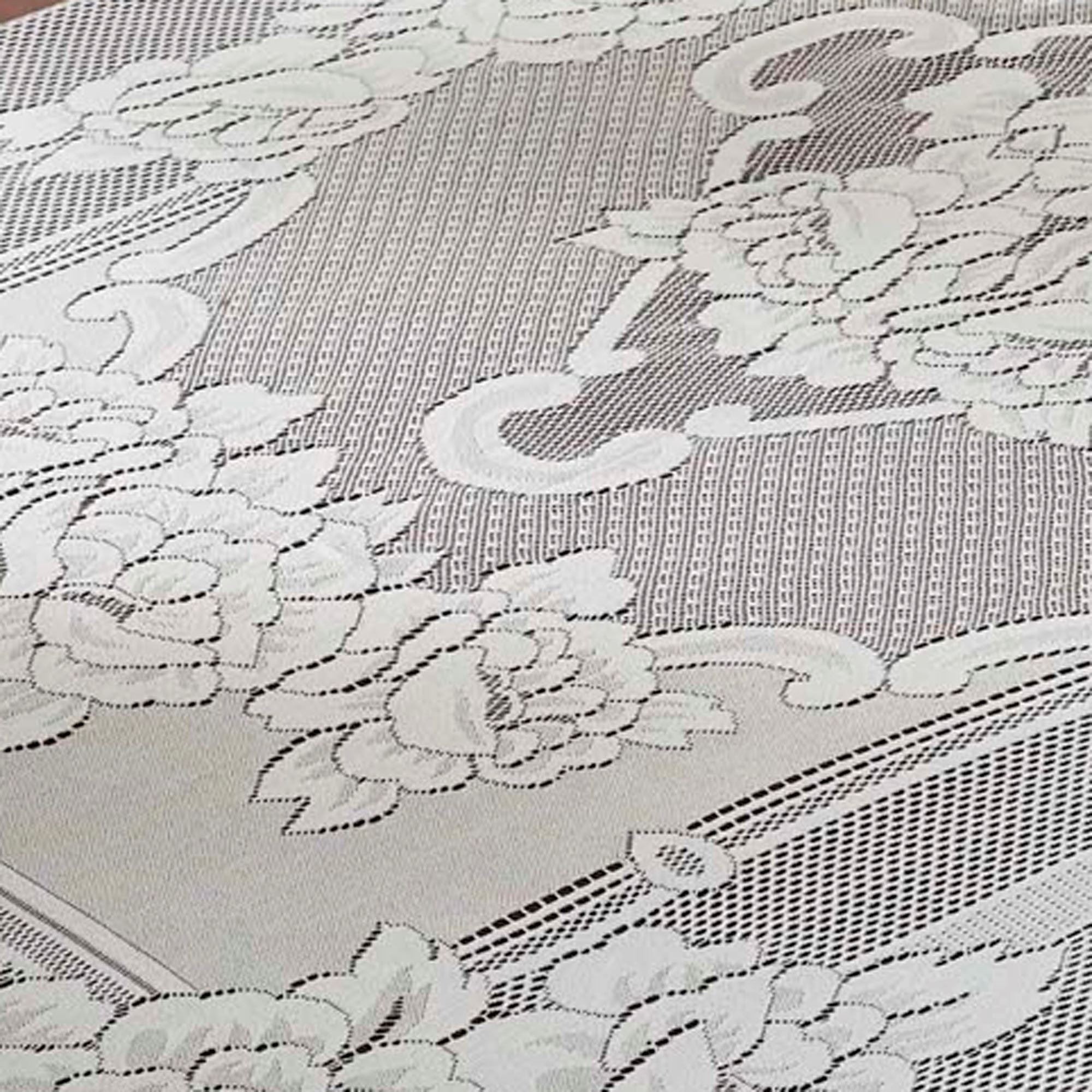 Lace Vinyl Tablecloth | Lace Tablecloths | Ivory Lace Tablecloths