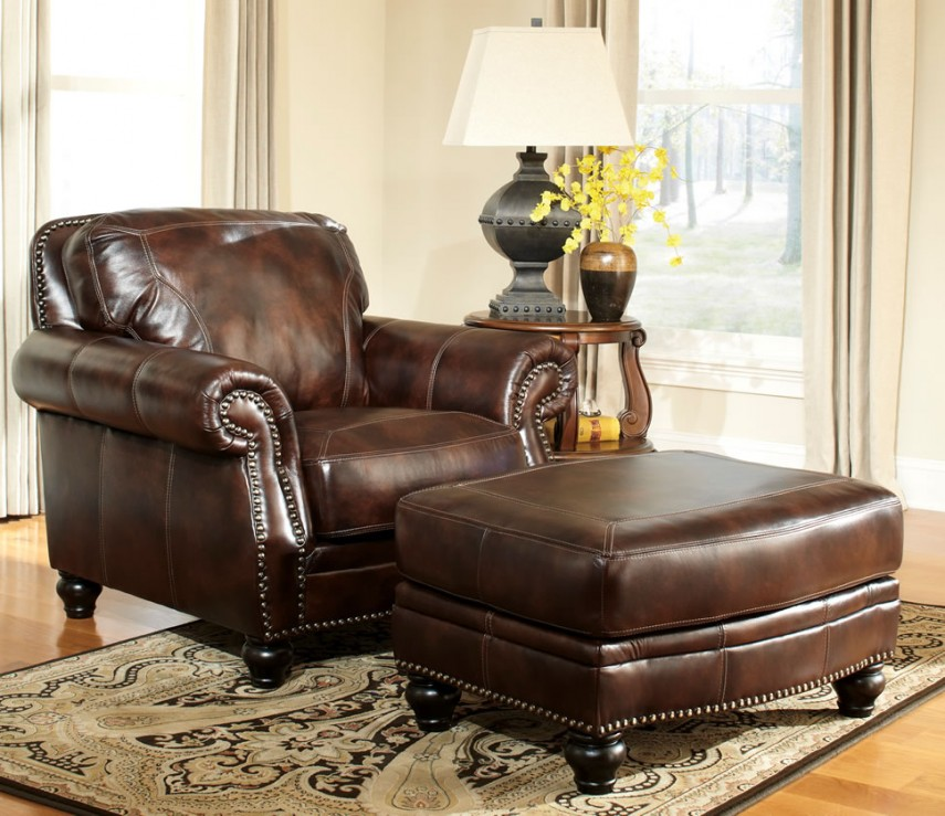 Lane Leather Chair And Ottoman | Cheap Tufted Chair | Leather Chair And Ottoman