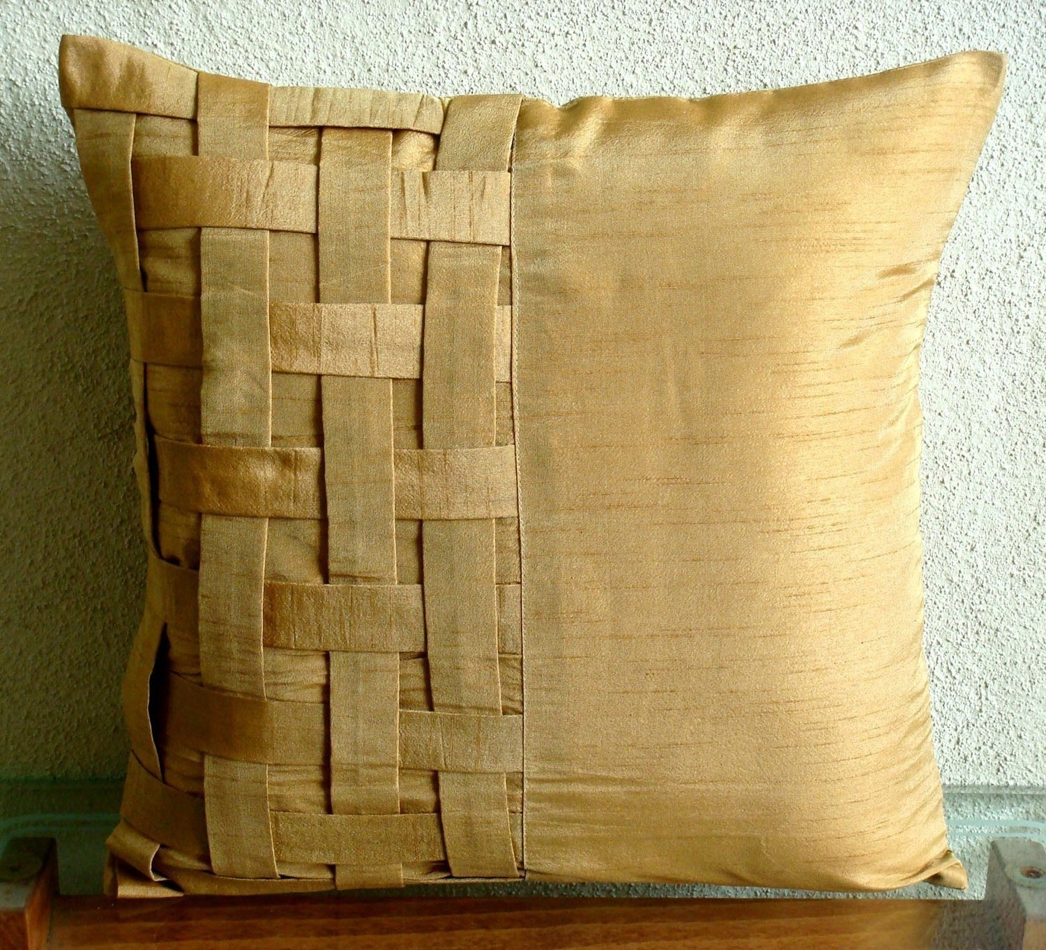 Large Decorative Pillows | 12x18 Pillow Cover | Gold Throw Pillows