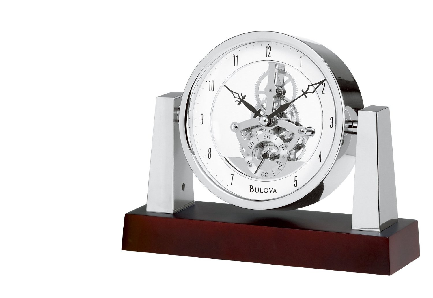 Large Mantle Clock | Bulova Mantel Clock | Bulova Crystal Pendulum Clock