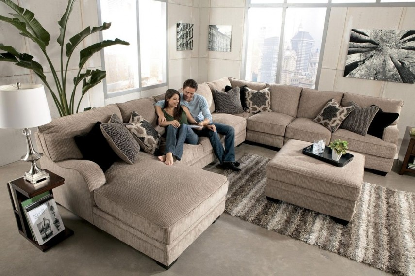 Large Sectional Sofas | Cheap Sectional Couches | Faux Leather Sofa