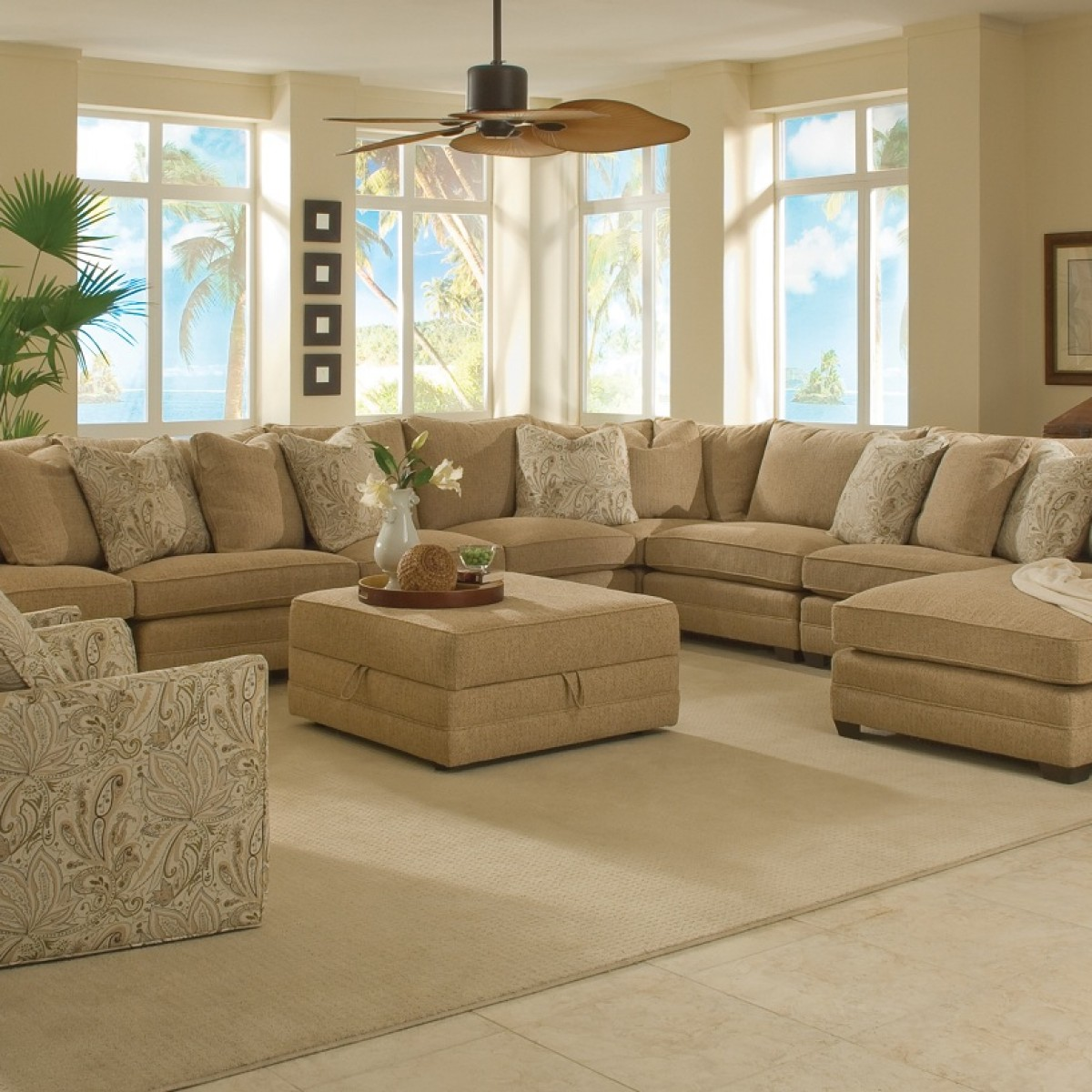 Large Sectional Sofas | Extra Large Sectional Sofas with Chaise | Large Deep Sectional Sofas