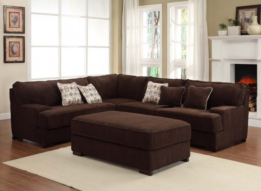 Furniture contemporary large sectional sofas for living for Large sofa small room
