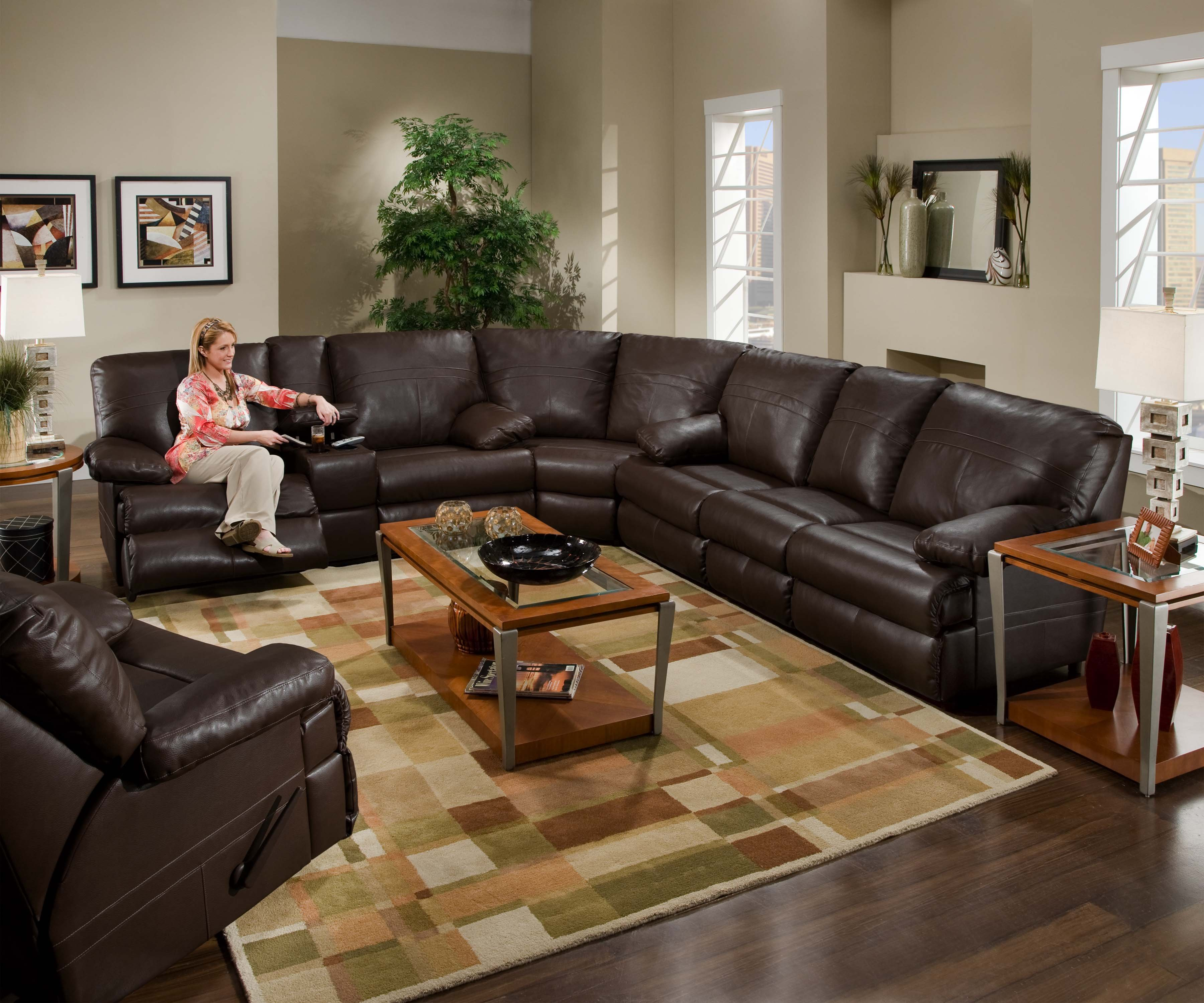 Large Sectional Sofas | Lazy Boy Sectional | Cuddler Sectional