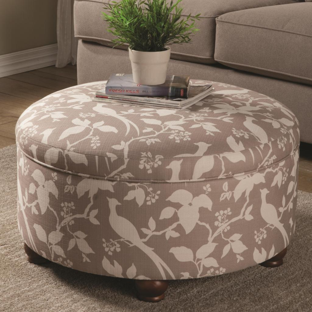 Large Tufted Ottoman | Cube Storage Ottoman | Round Storage Ottoman - Furniture: Amazing Round Storage Ottoman For Home Furniture Ideas