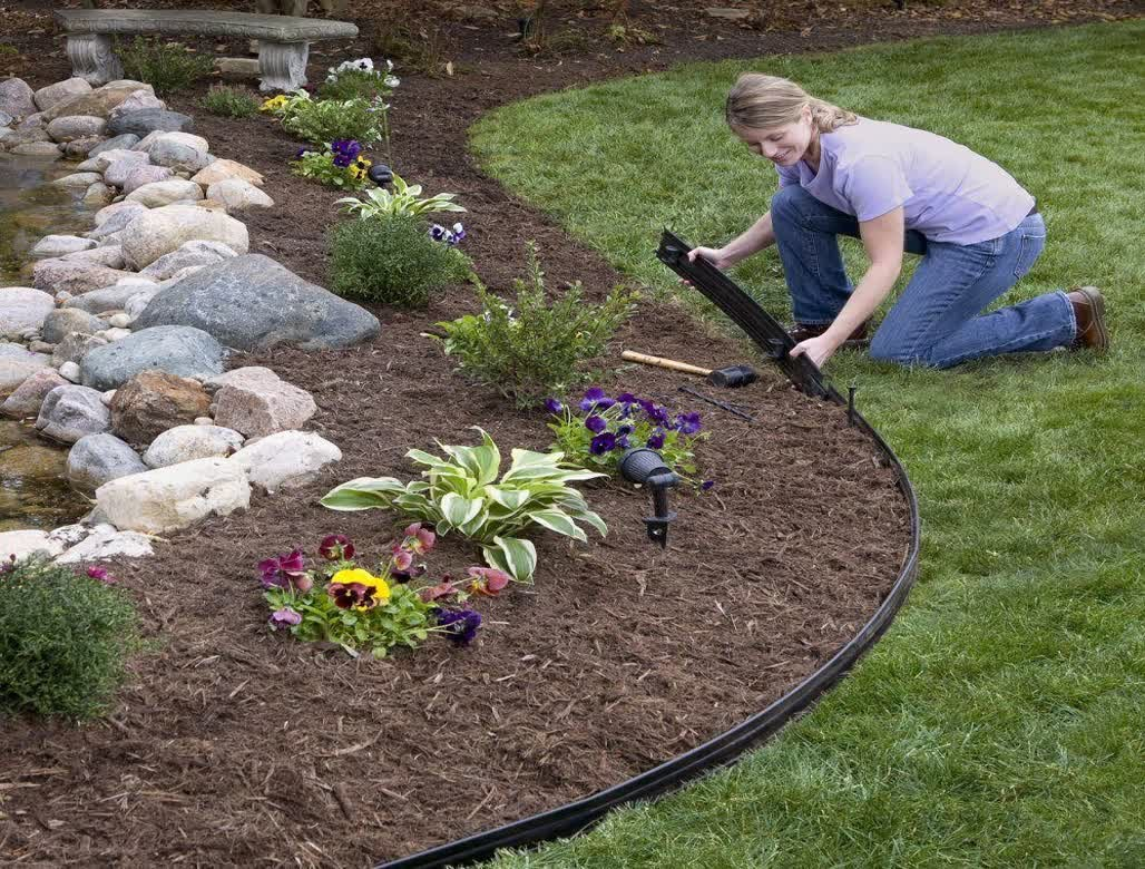 Lawn Divider | Home Depot Blocks | Landscape Edging Ideas