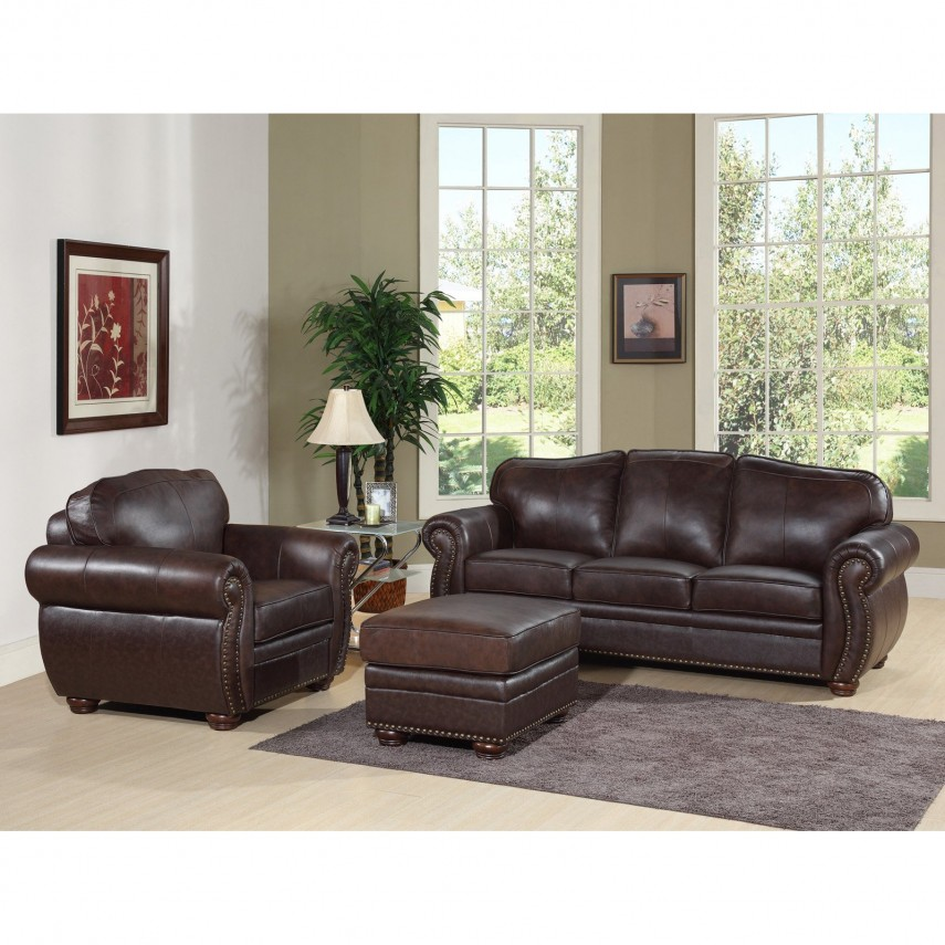 Leather Chair And Ottoman | Bonded Leather Chair And Ottoman | Club Chair Recliner