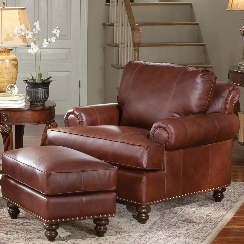 Leather Chair And Ottoman | Chair And A Half With Ottoman | Living Room Chairs Ikea
