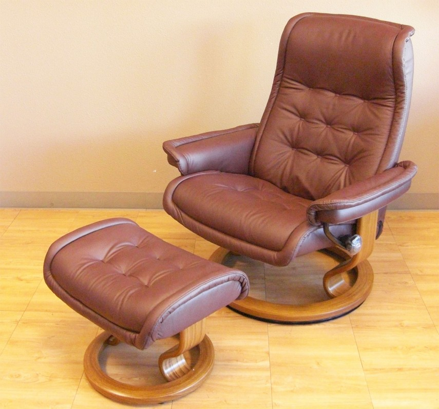 Leather Chair And Ottoman | Comfy Armchair | Swivel Rocking Chair With Ottoman