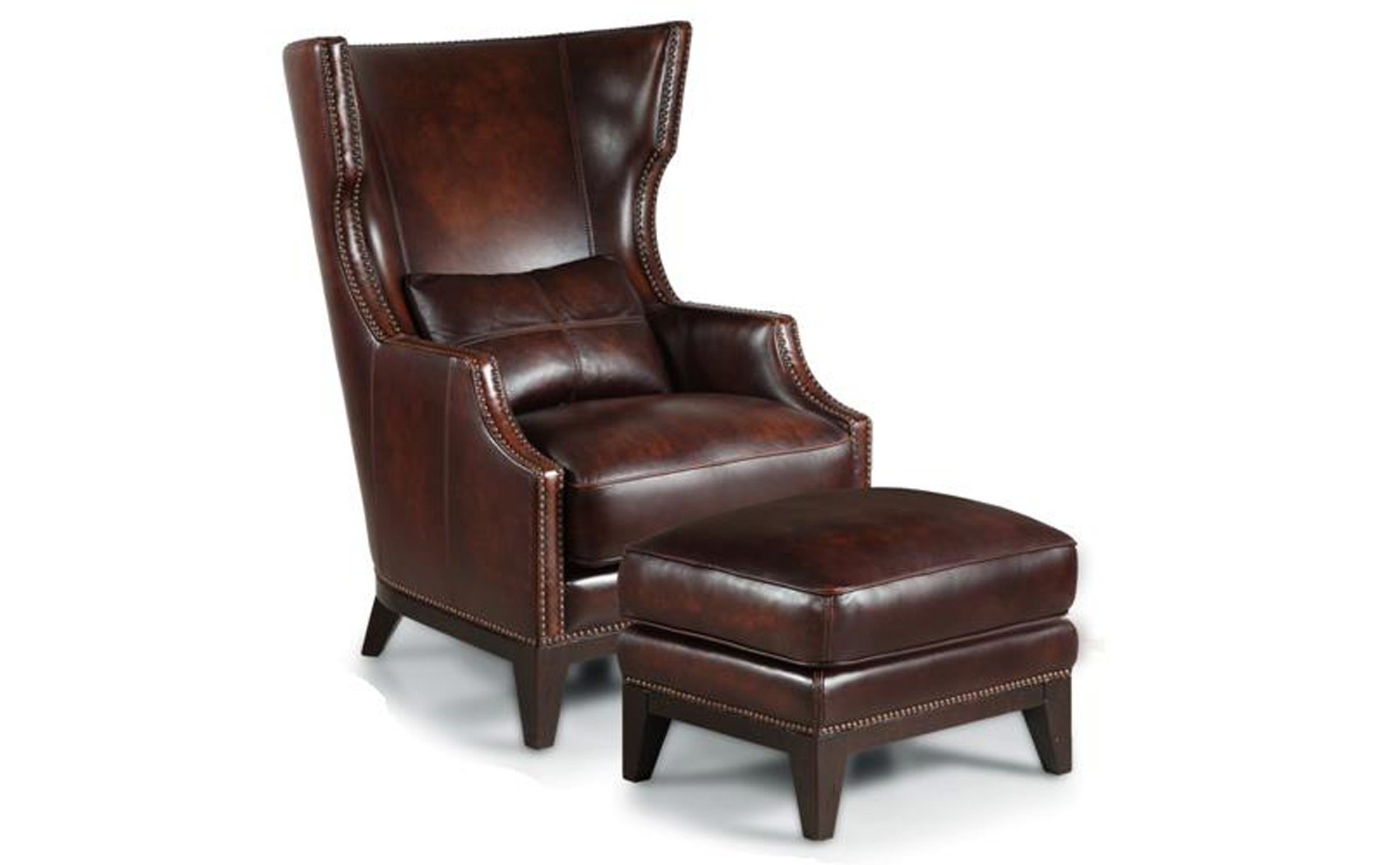 Leather Chair and Ottoman | Leather Reclining Chair and Ottoman | Club Chair with Ottoman