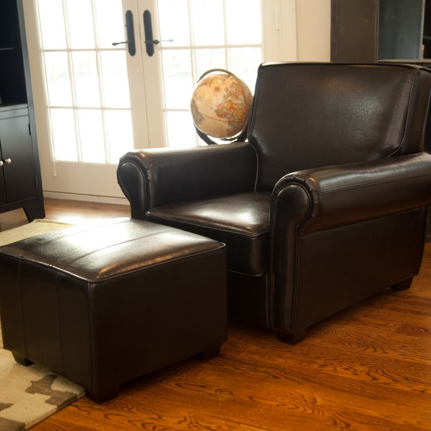 Leather Chair And Ottoman | Oversized Chair And Ottoman | Ikea Comfy Chair