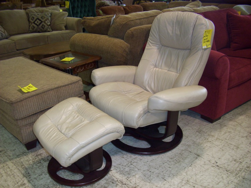 Leather Chair And Ottoman | Pottery Barn Club Chair | Oversized Chairs With Ottoman