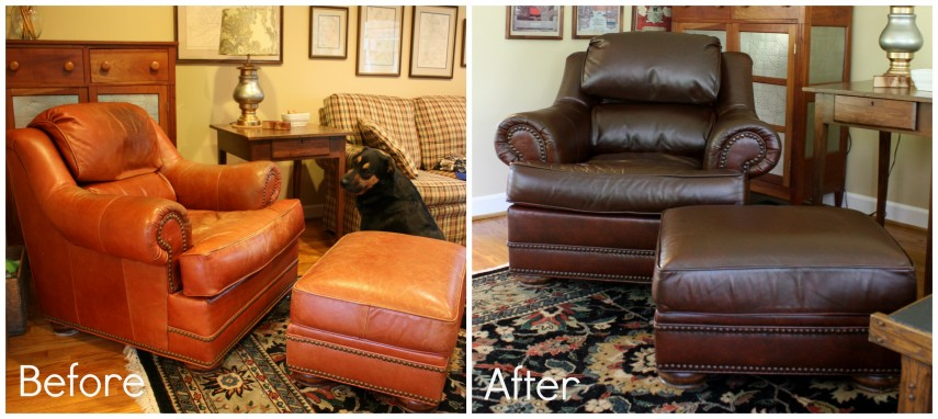 Leather Chair And Ottoman | Tufted Chair And A Half | Oversized Chair And Ottoman