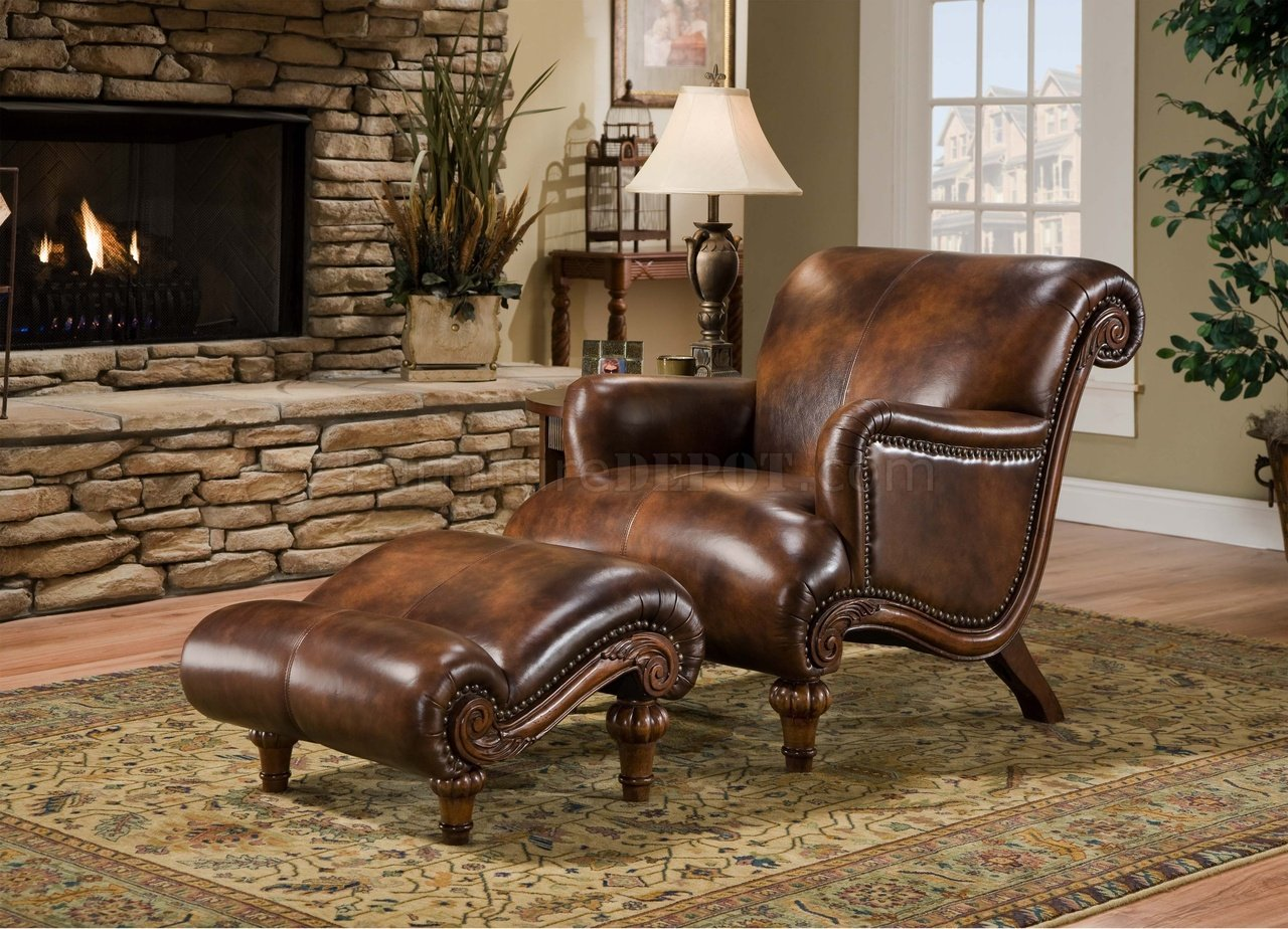 Living room chairs with ottomans for Chaise and ottoman