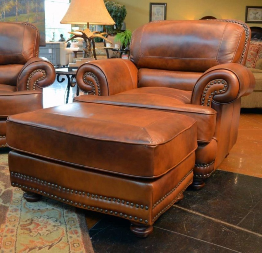 Leather Chair And Ottoman | World Market Armchair | Black Accent Chairs Under $100