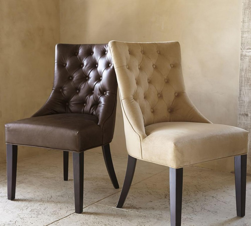 Leather Tufted Wingback Chair | Tufted Chairs | Tufted Chair