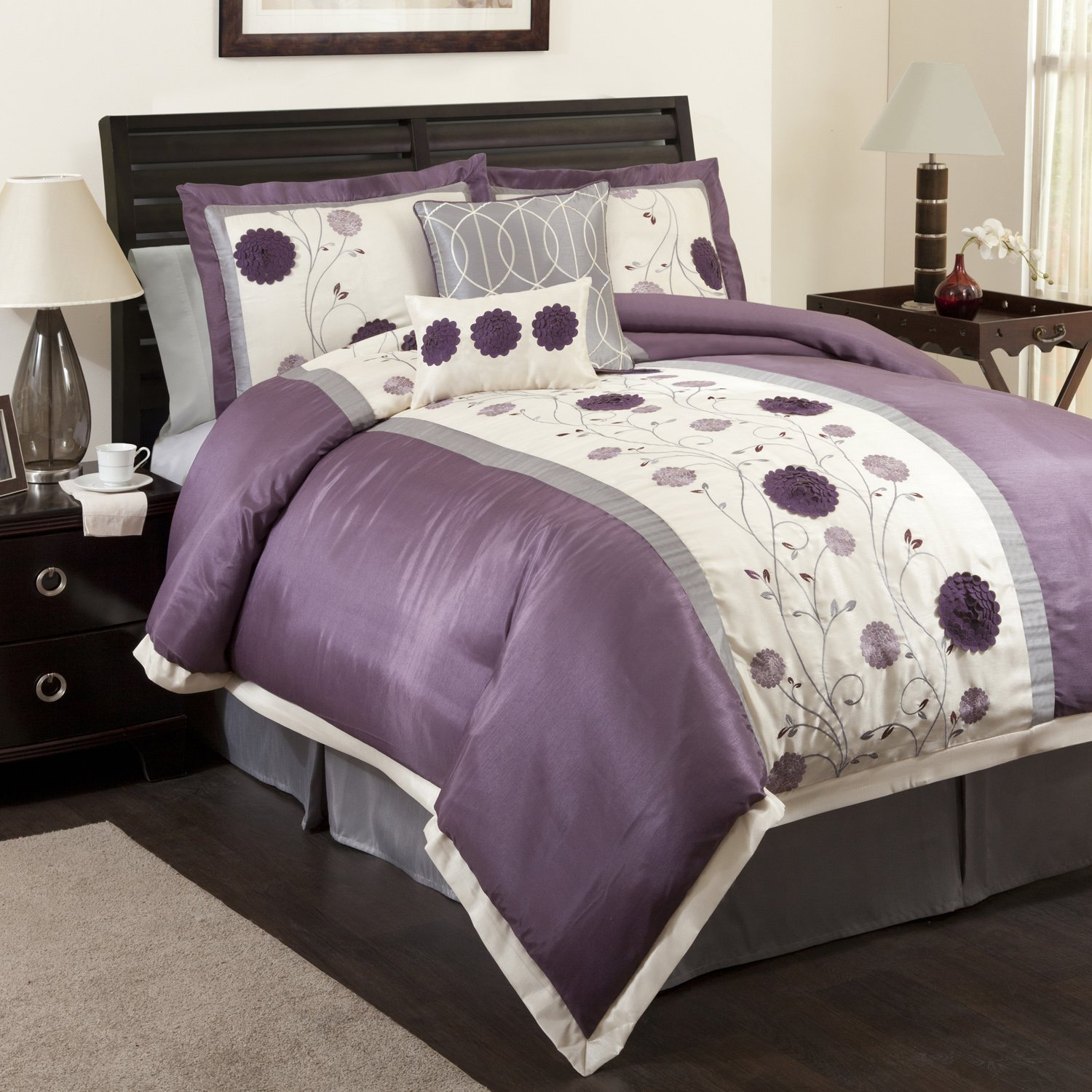intelligent free design product set comforter kayla shipping purple bath sets bedding on