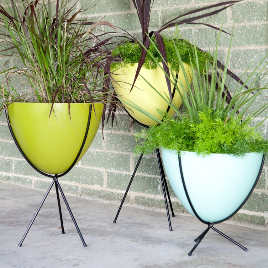 Light Weight Planters | Outdoor Bowl Planters | Fiberglass Planters