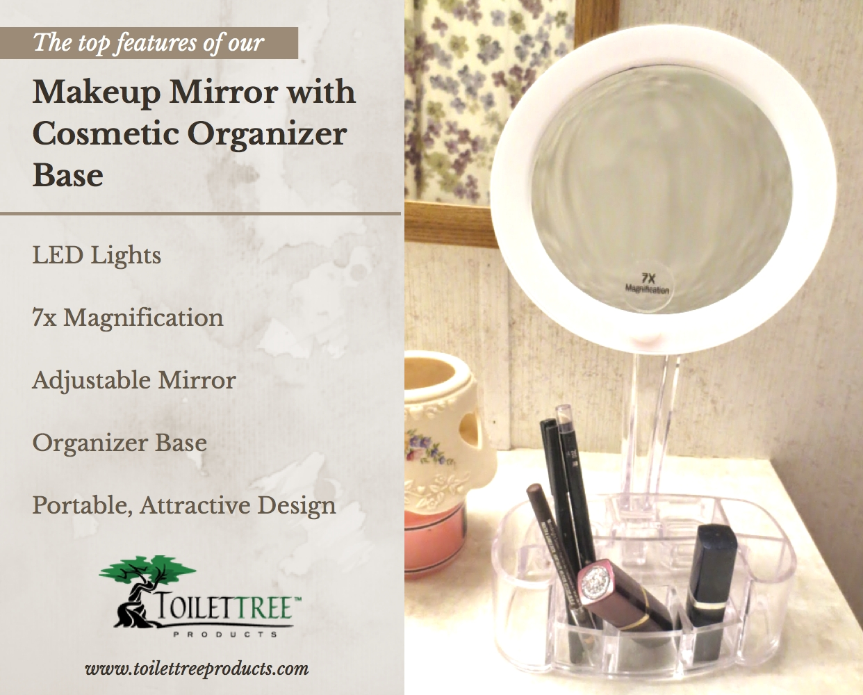 Lighted Make Up Mirror | Beauty Mirror with Lights | Best Lighted Makeup Mirror