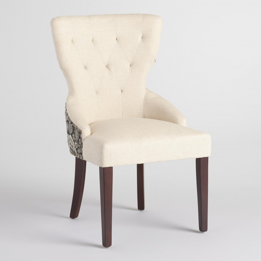 Linen Dining Chairs | Tufted Dining Chair | Turquoise Dining Chair