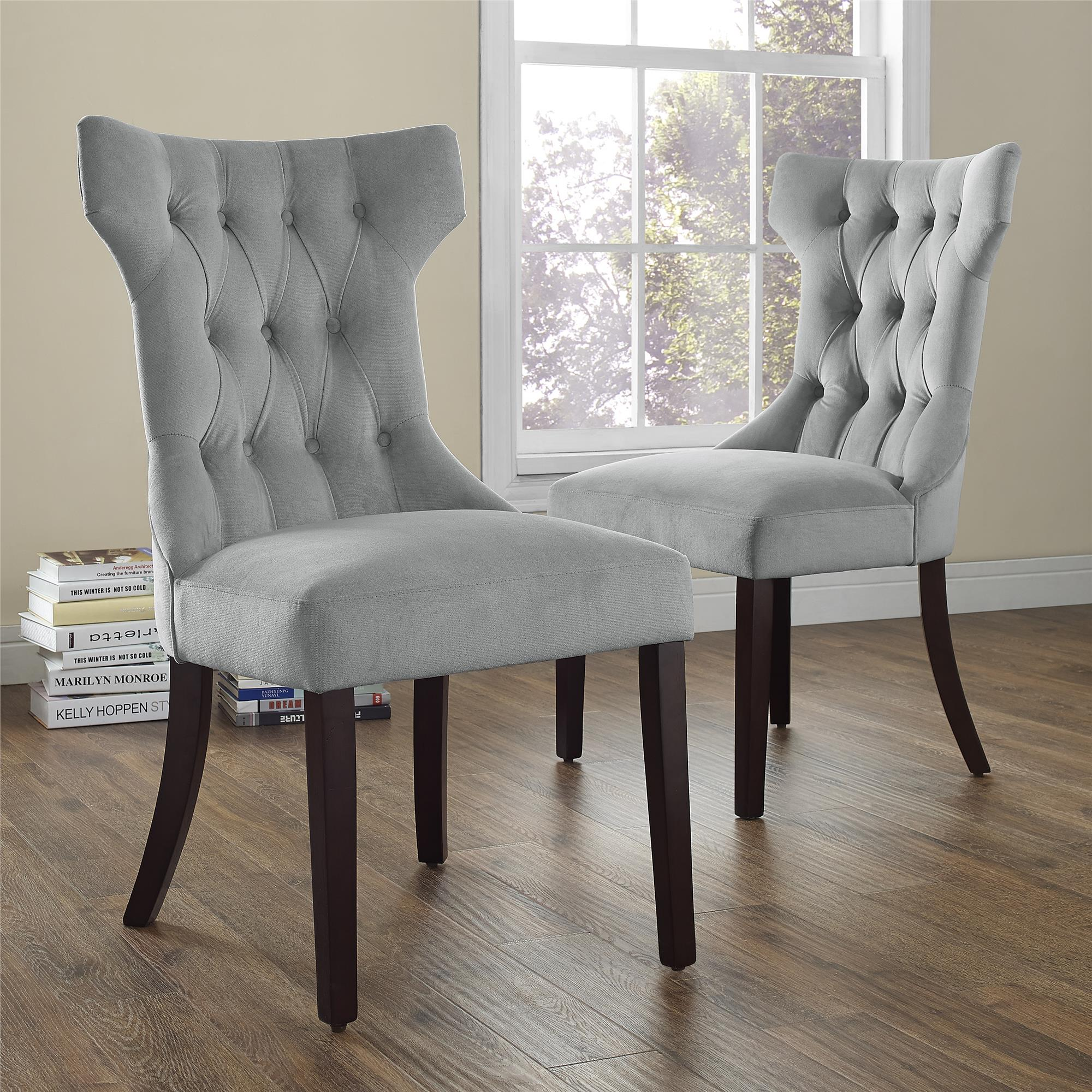 Linen Dining Chairs | Upholstered Kitchen Chairs | Tufted Dining Chair