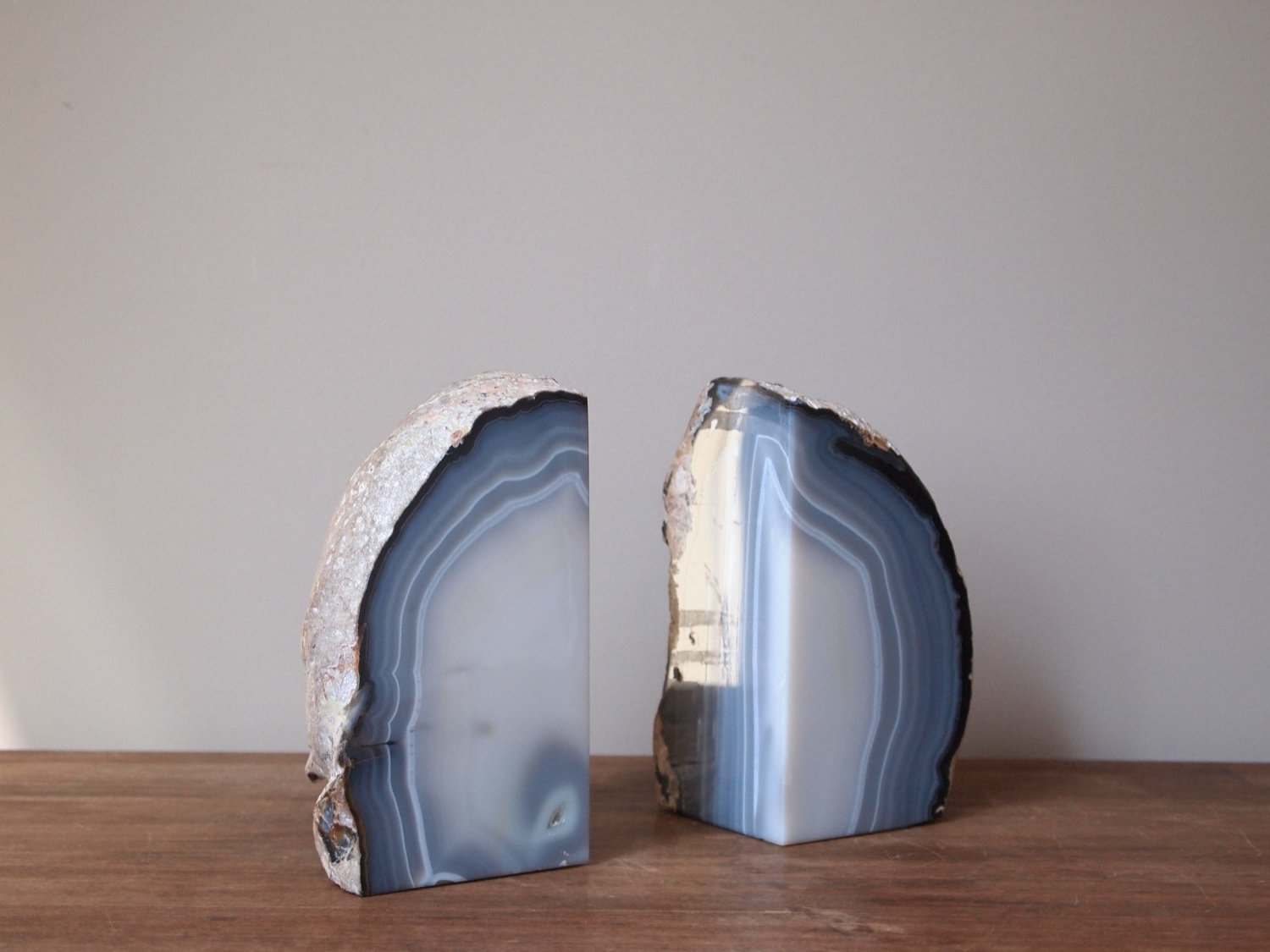 Lovely Rock Bookends | Splendiferous Geode Bookends