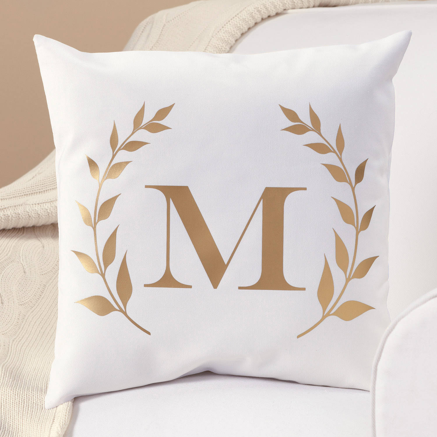 Lumbar Pillow Covers | Rose Gold Pillow | Gold Throw Pillows