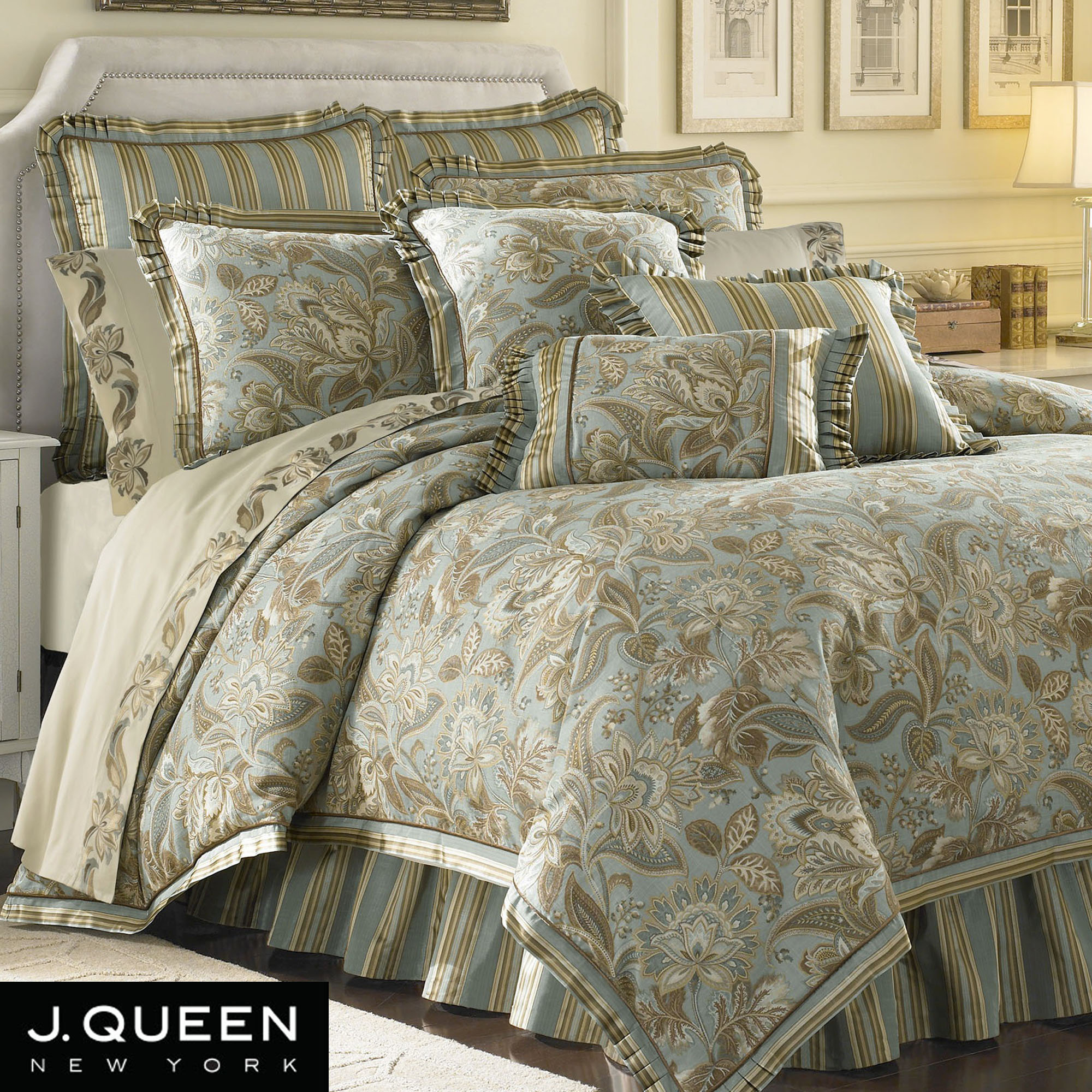 Bedroom using luxury comforter sets for wonderful bedroom - Bed bath and beyond bedroom furniture ...