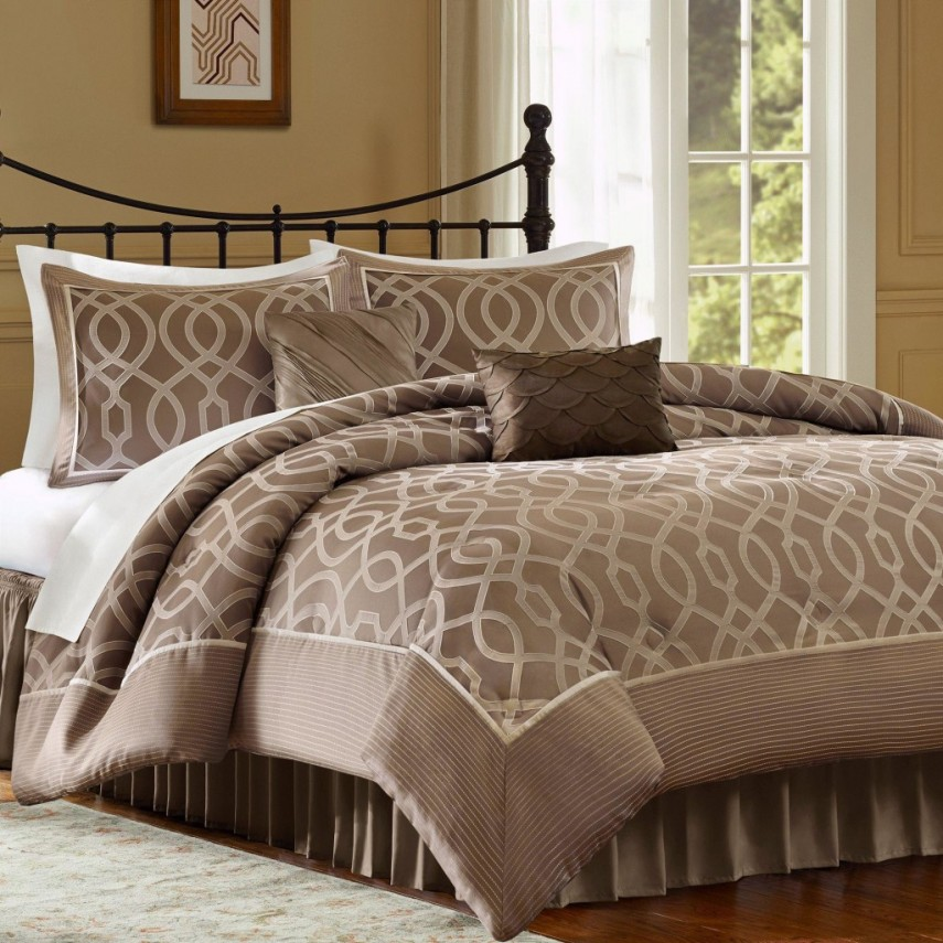 Luxury Comforter Sets | Discount Quilts | Taupe Comforter Sets Queen