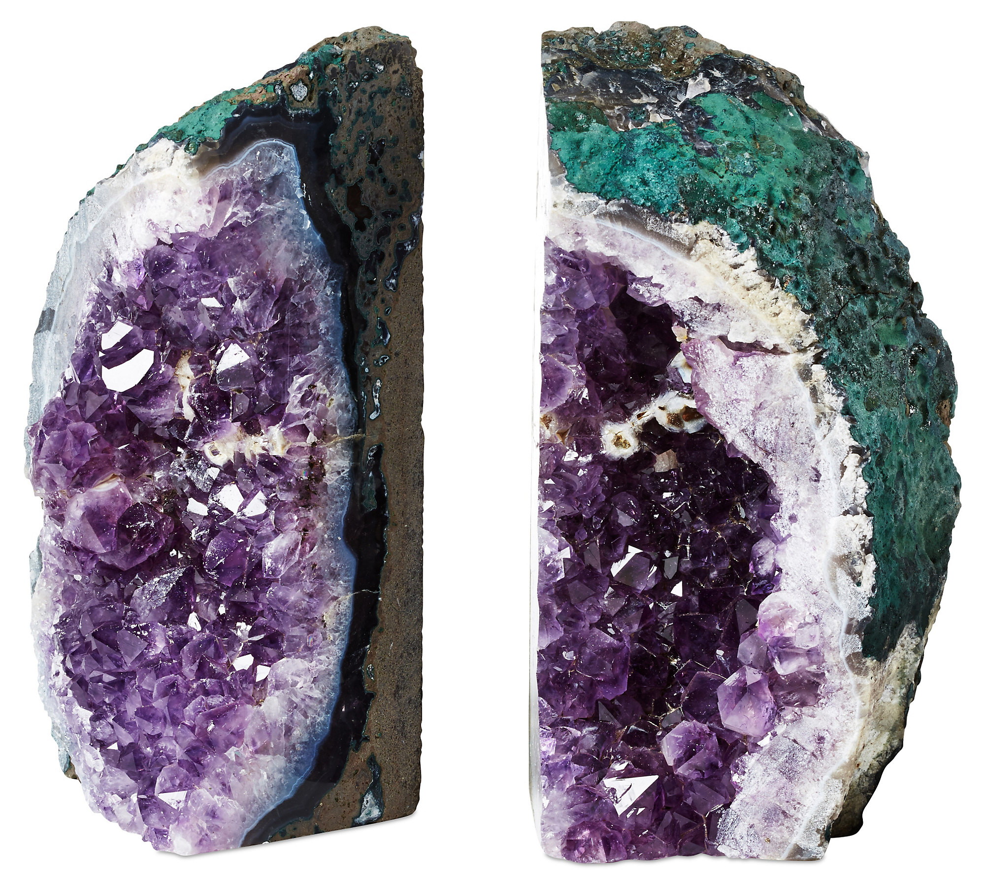 Magnificent Geode Bookends Rustic | Exquisite Geode Bookends