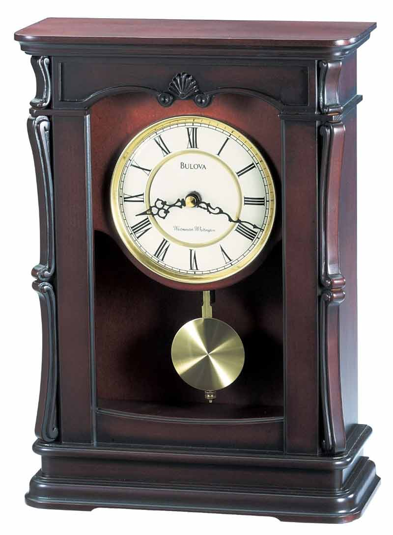 Mantle Piece Clock | Bulova Mantel Clock | Bulova Desk Clock