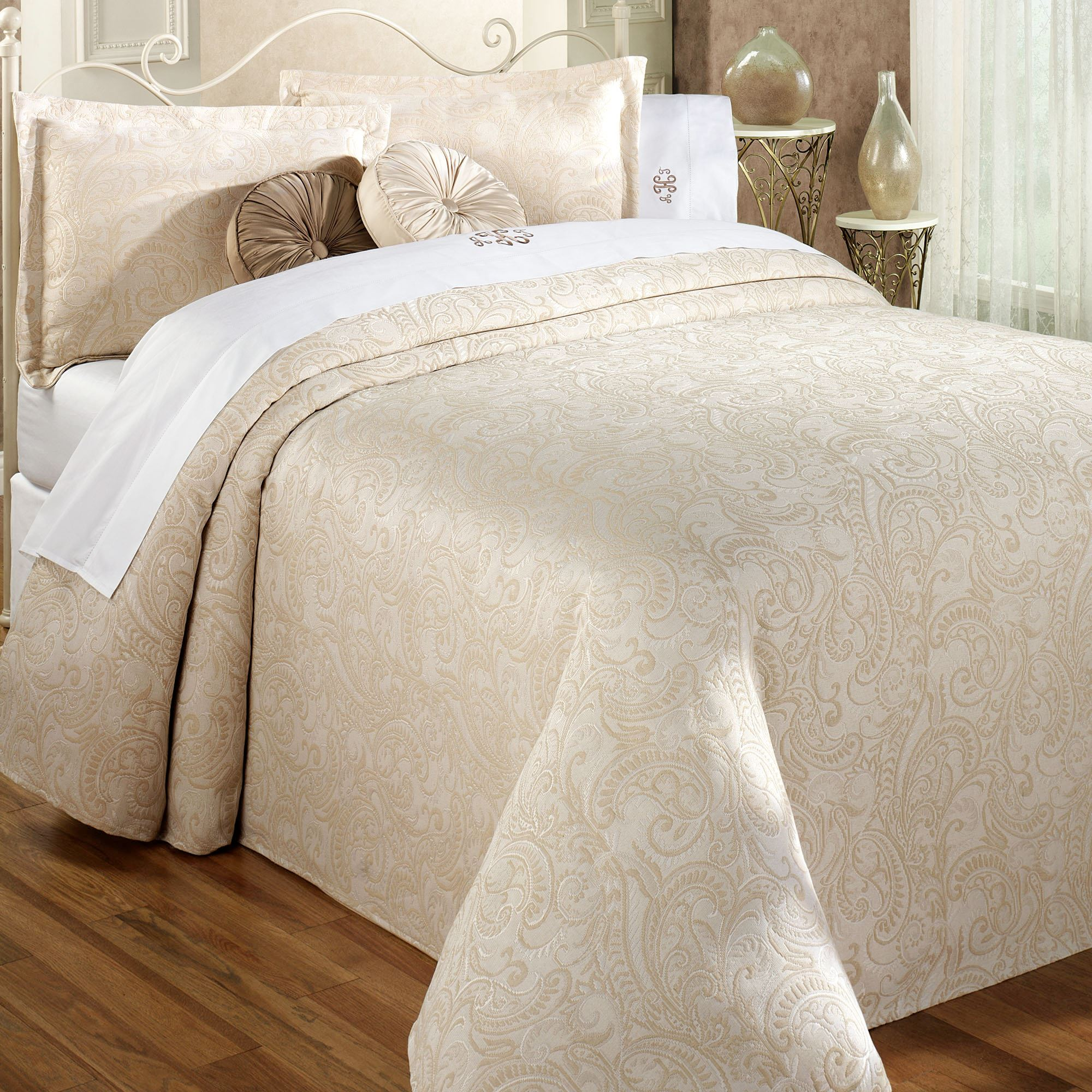 Matelasse Coverlet King | Matelasse Bedspreads | Chenille Bedspread Queen Size