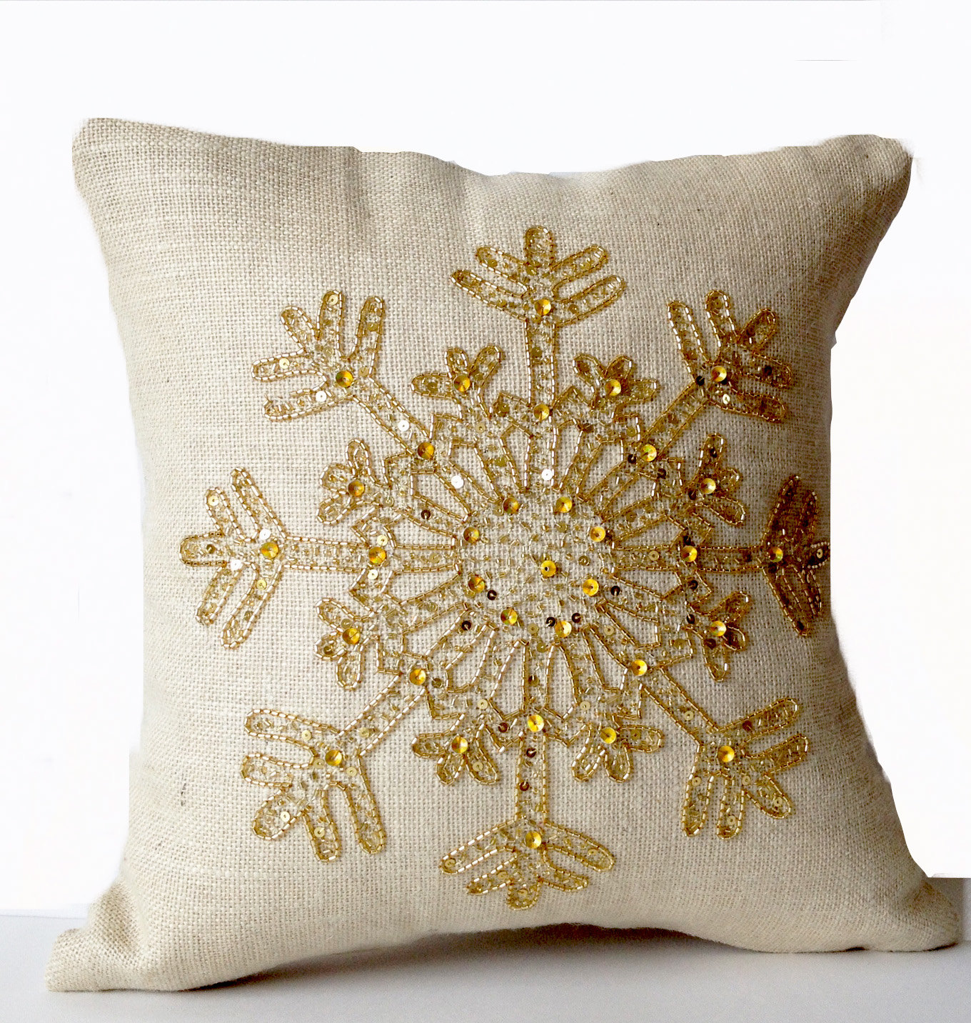 Memory Foam Throw Pillows | Gold Throw Pillows | Gold Sequin Throw Pillows