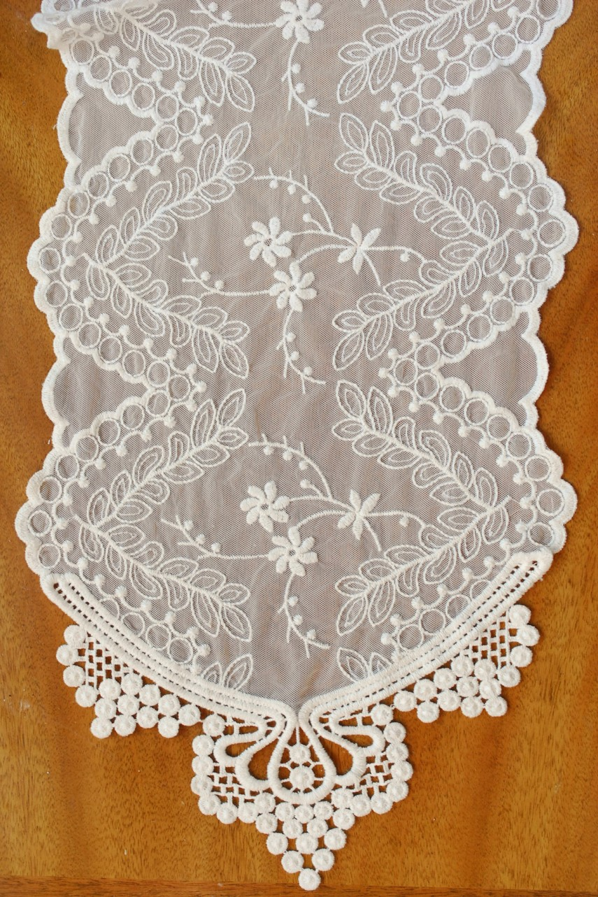 Mint Green Table Runner | Lace Runners | Lace Table Runners