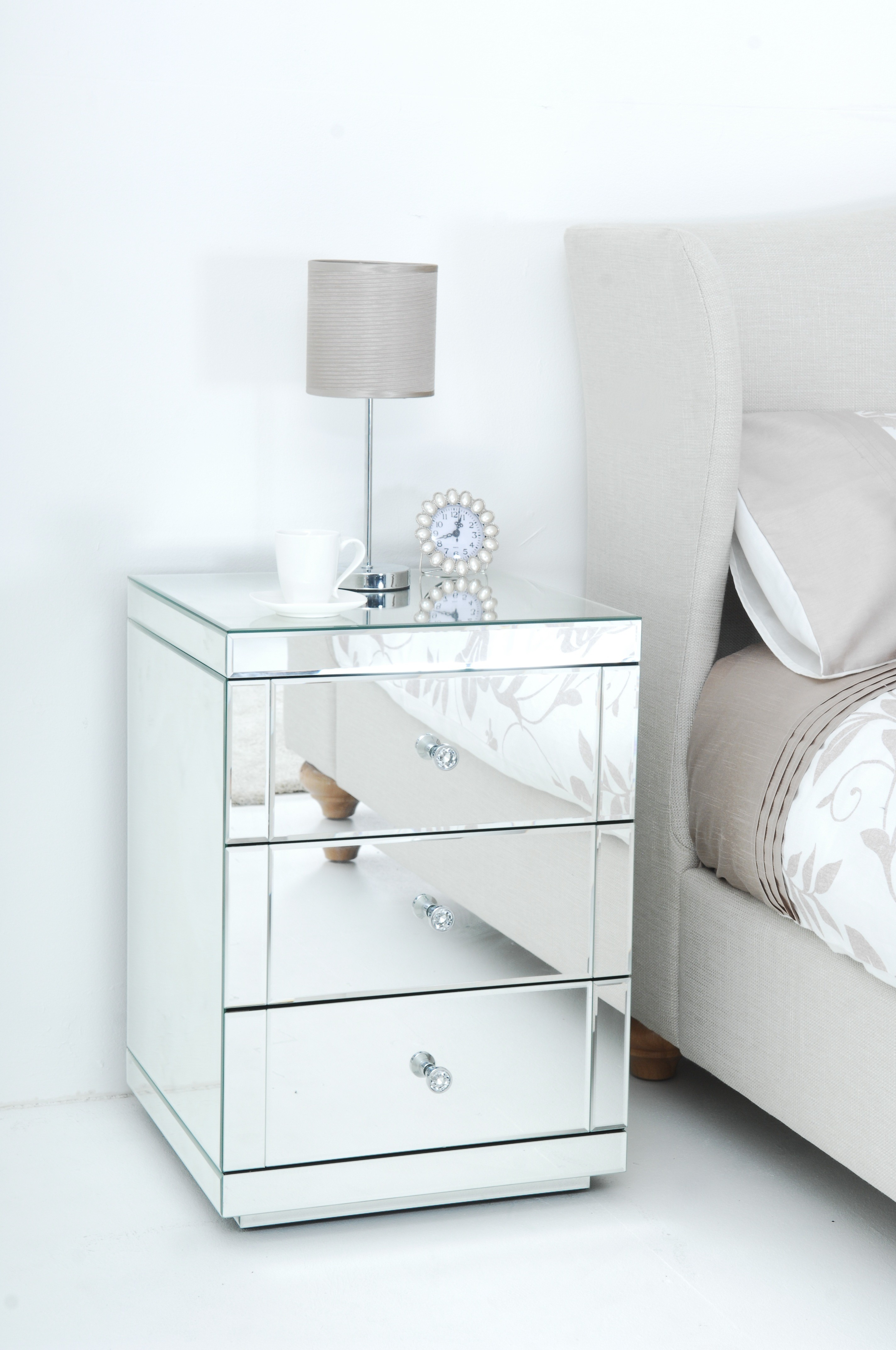 Mirror Nightstands | Cheap Bedside Tables | Narrow Nightstand