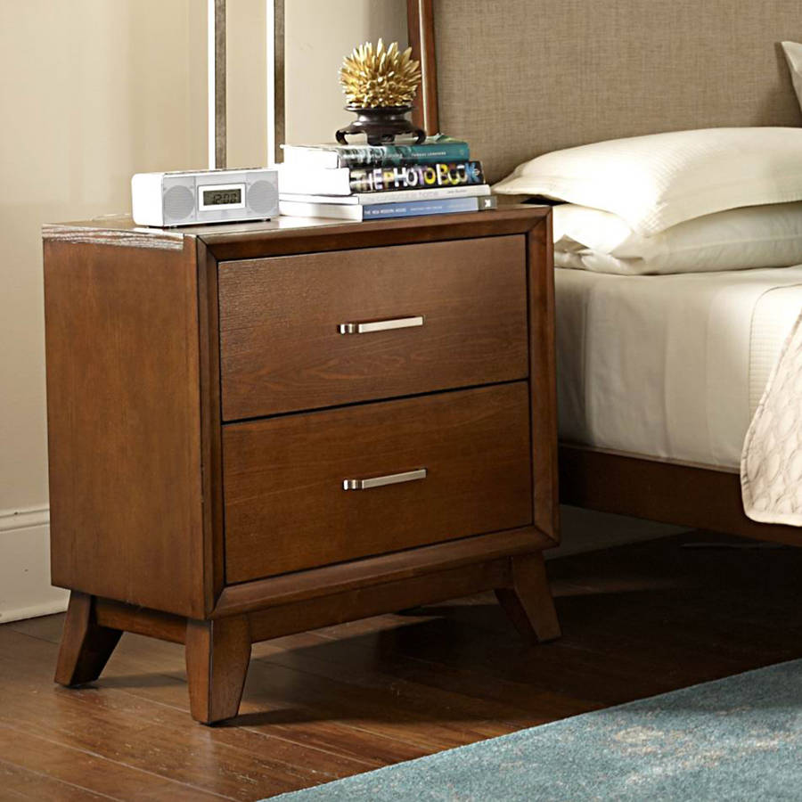 Mirror Nightstands | Narrow Nightstand with Drawers | Narrow Nightstand