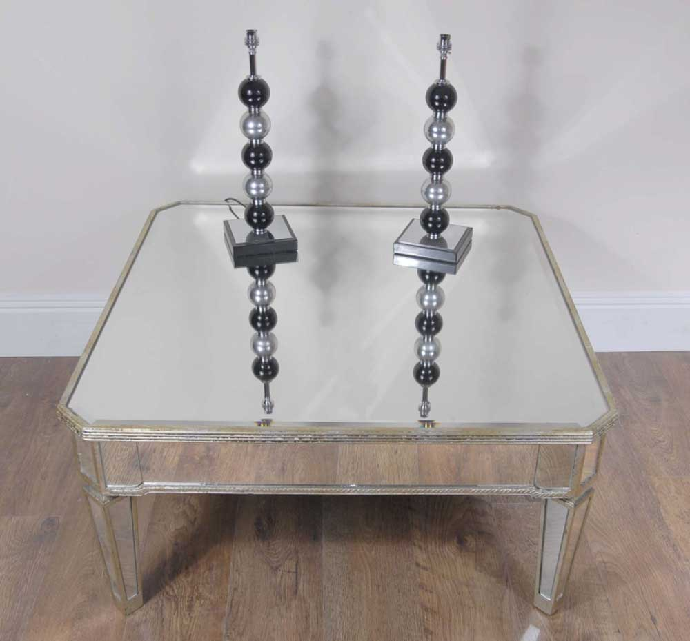Mirrored Coffee Table | Coffee Table Organizer | Coffee Table Marble