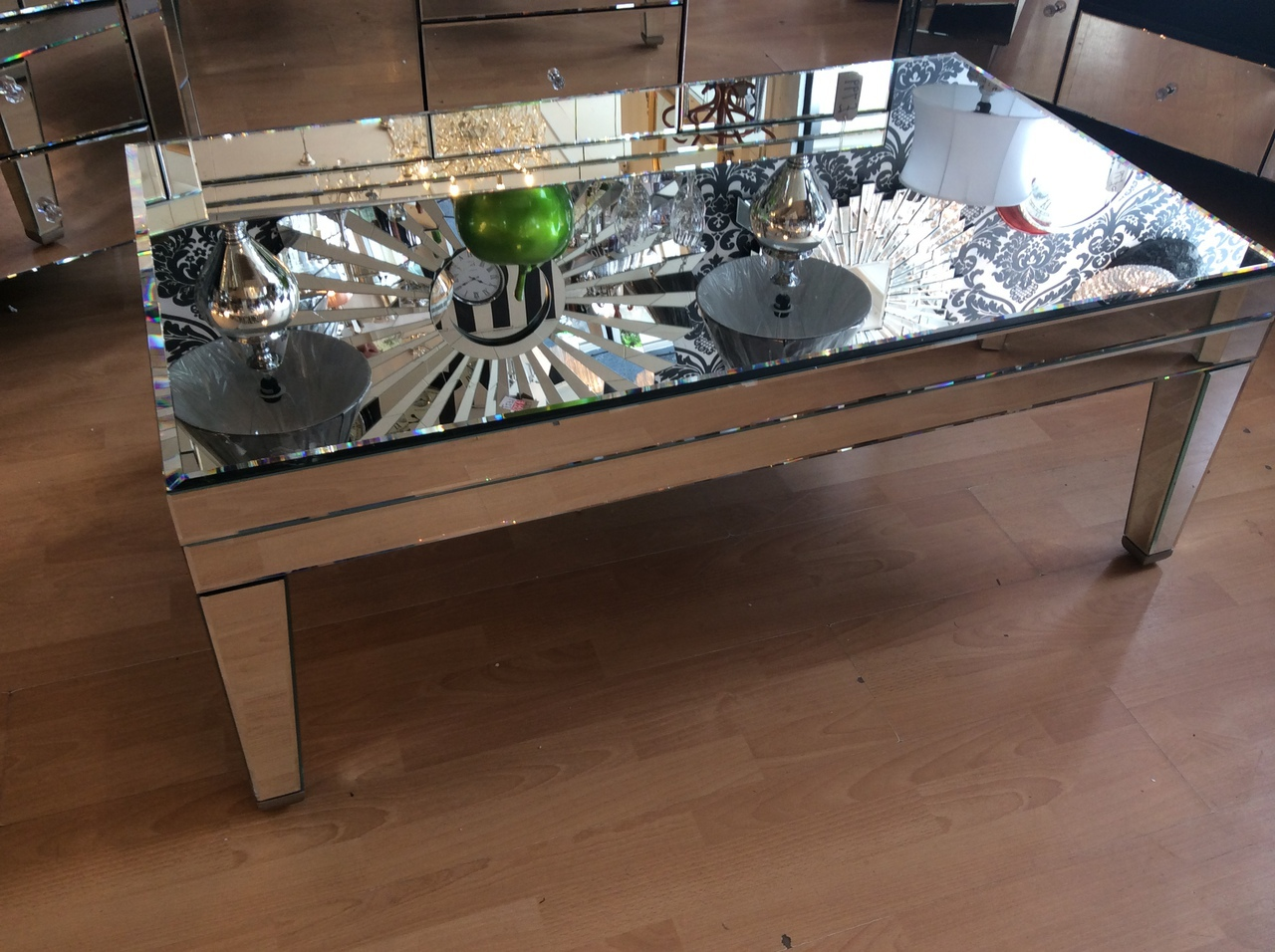 Mirrored Coffee Table | Coffee Tables Mirrored | Rectangle Glass Coffee Table