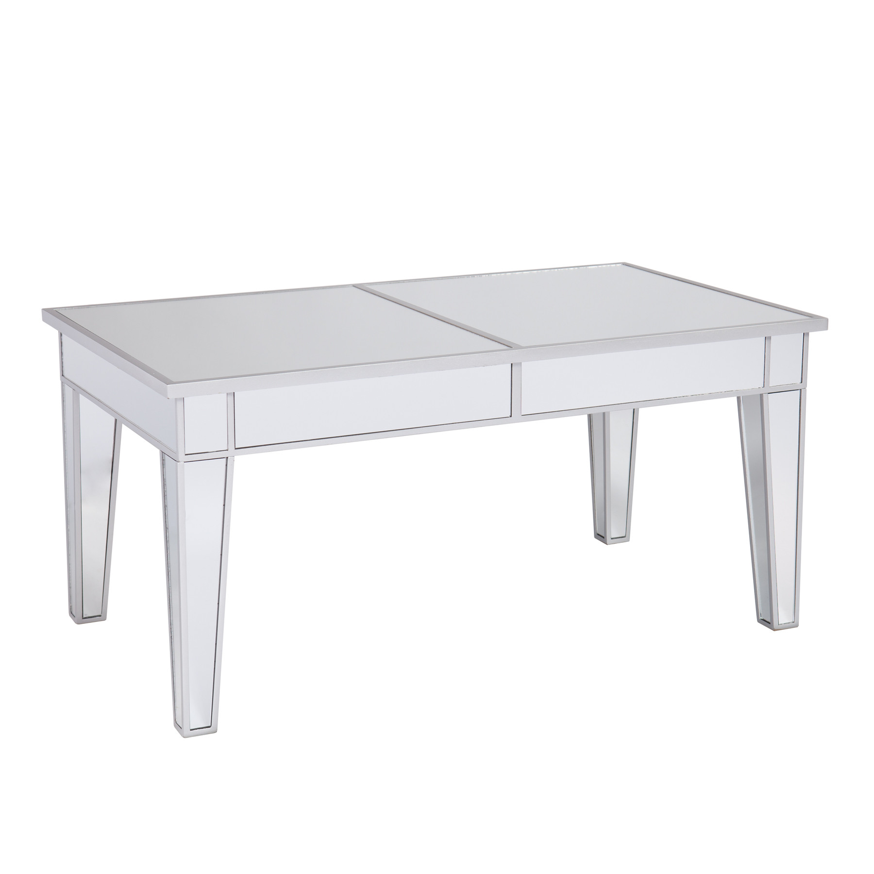 Mirrored Coffee Table | Glass Nesting Coffee Tables | Mirrored Corner Table